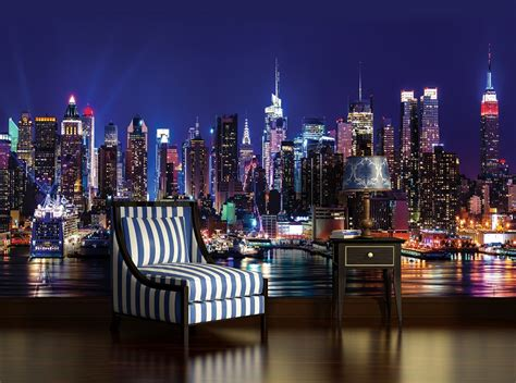 new york city living room wallpaper