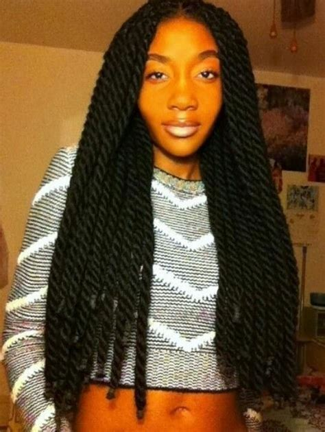 twists with extension hair known as marley braid hair instead thick long kinky twists booming braids pinterest