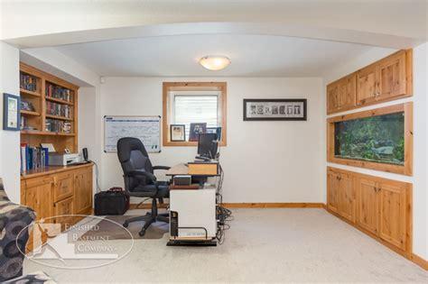 Basement Office by Basement Office Fish Tank Traditional Basement