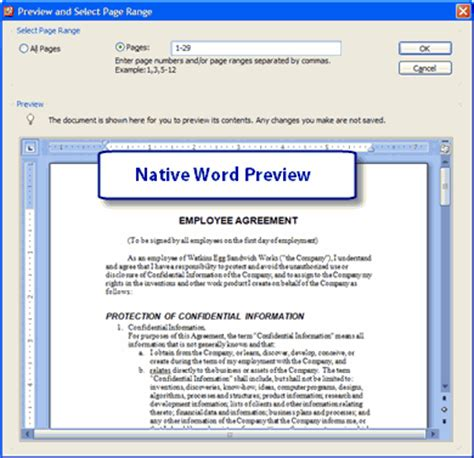 convert pdf to word in preview extracting non sequential pages another method