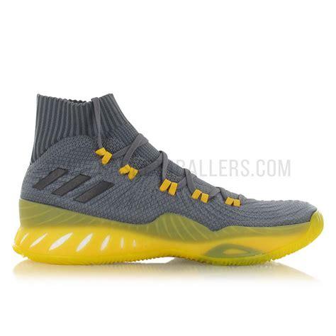Sepatu Basket Adidas Explosive Primeknit Grey adidas explosive 2017 primeknit grey basket4ballers