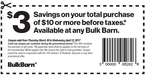 Barn Coupon bulk barn canada coupons save 3 your 10 purchase flyer deals canadian freebies