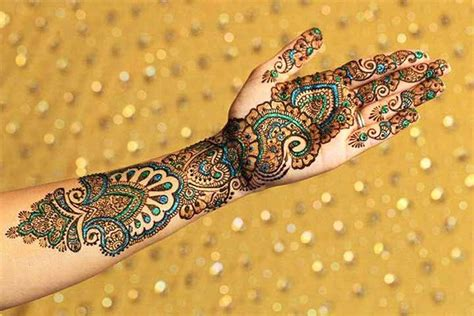 9 glitter mehndi designs that promise you shall shine