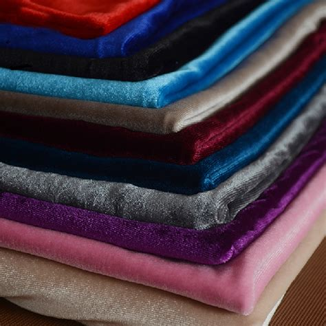 material korean stretch velvet fabric korea pleuche knit material for
