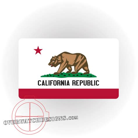 california state colors california state flag decal overwatch designs