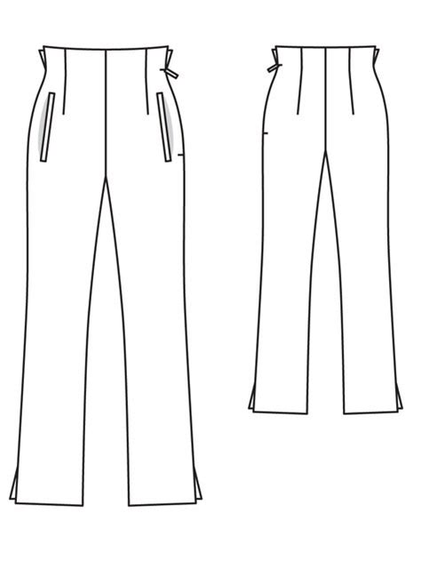 pattern templates from issue 40 sew hip high waist trousers 02 2013 119 sewing patterns