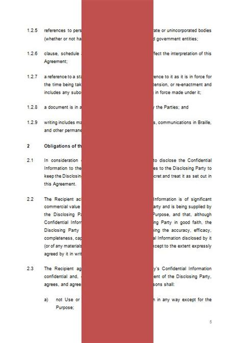 unilateral non disclosure agreement template unilateral confidentiality agreement nda template the