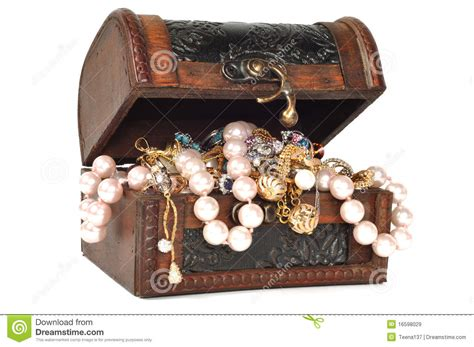 treasure chest with jewelry stock image image 16598029