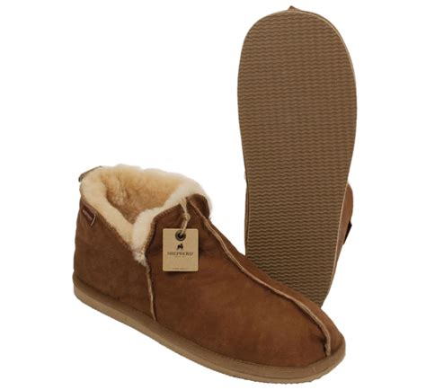 womens boot style slippers shepherd anton s boot style antique leather sheepskin