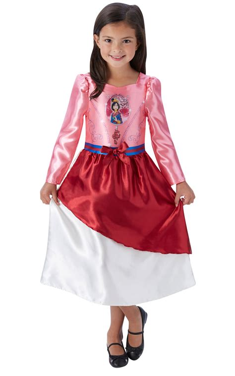 Mulan Dress fille s disney fairytale mulan costume robe fantaisie ebay