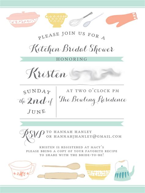 bridal shower invitations kitchen bridal shower strawberry rhubarb crisp in jars from a kitchen bridal