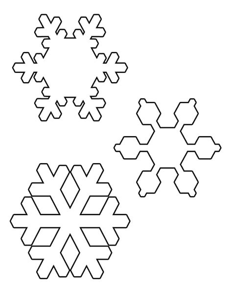 best photos of snowflake templates to cut out small