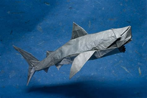 Origami Hammerhead Shark - 25 excellent origami fish just for the halibut