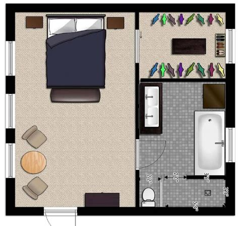 master suite floor plans  easy flow design large