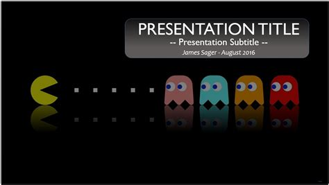 powerpoint templates video games free pacman powerpoint template 9872 sagefox powerpoint