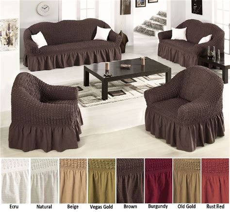 elastic stretch slip fit sofa covers slipcover couch loveseat arm chair cotton ebay
