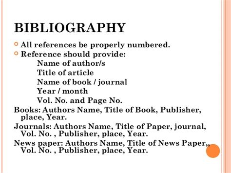 bibliography page of a research paper