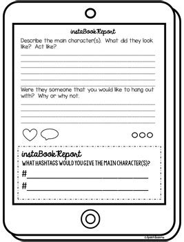Instagram Report Template Instagram Book Report Template Reading Classroom By