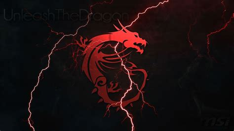 msi dragon logo lightning 4k wallpaper logo symbols