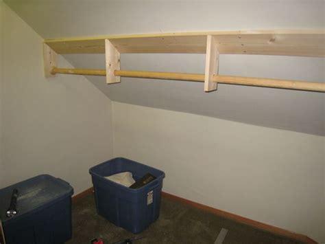Storage Ideas Slanted Ceiling On Pinterest 20 Pins On Sloped Ceiling Closet