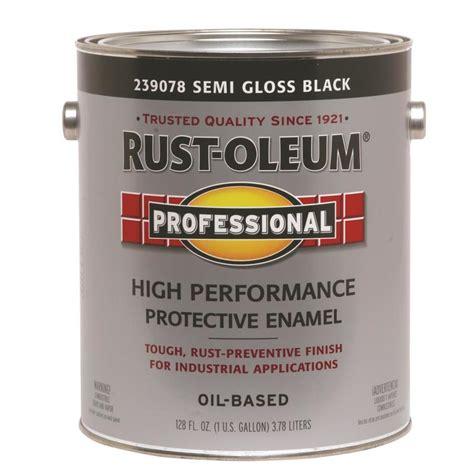 gloss paint shop rust oleum professional black semi gloss enamel