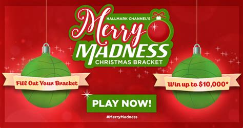 Nbc Com Sweepstakes - hallmark channel merry madness christmas bracket sweepstakes