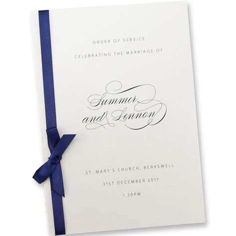 wedding invitation order of order of service invitation wedding invites