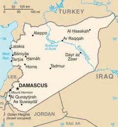 Syria On Map by Syria Clear And Present Danger 187 Indian Defence Review