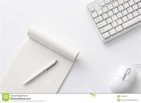 office desk stock image image of notebook mouse work