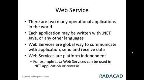 tutorial on web services in c web service task sql server integration services