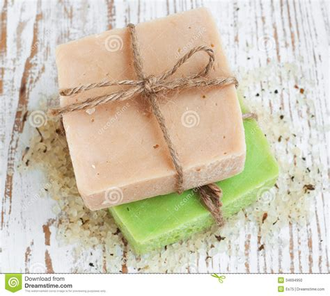 Handmade Herbal Soaps - herbal soap stock photo image 34694950