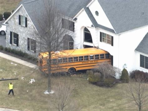 housing crash pennsylvania school bus plows into house abc news