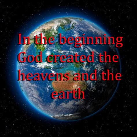 creation of genesis the parallel of genesis creation to s time on earth