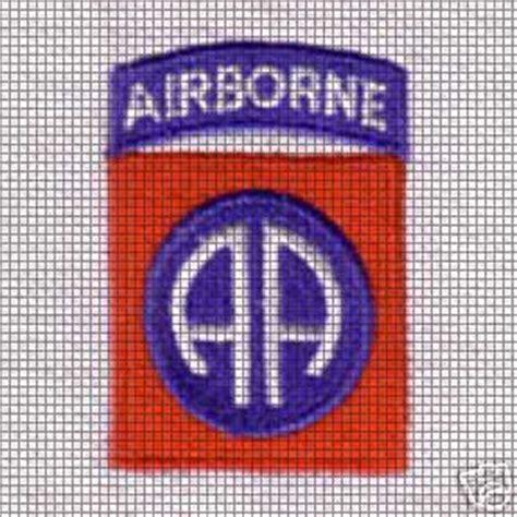 html pattern div 82nd airborne division crochet pattern