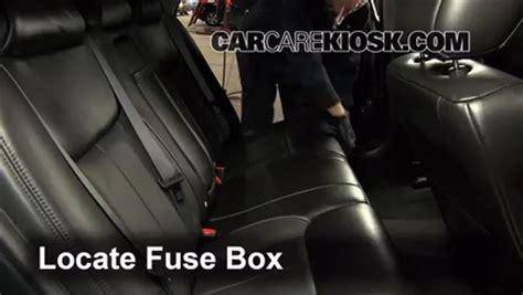 interior fuse box location   cadillac dts