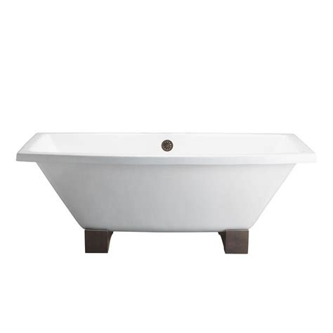 cast iron bathtub home depot barclay products 5 6 ft cast iron wooden block feet