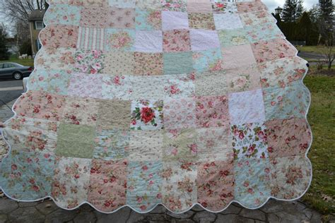 shabby vintage chic queen size bedding by truelovequiltsforyou