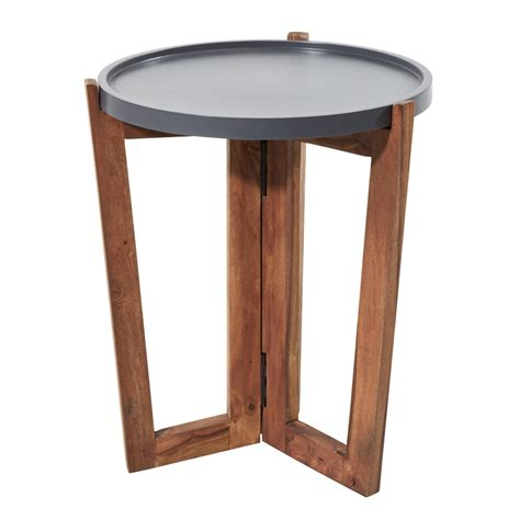 Grey Side Table Sheesham Side Table Niels Teak Side Table Sale Tikamoon