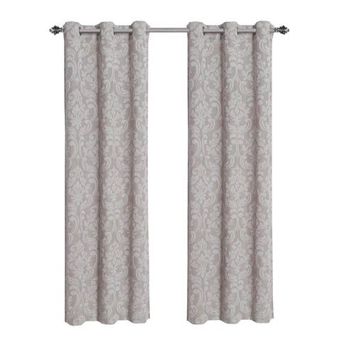 linen grommet curtain panels window elements elinor linen blend jacquard 84 in l