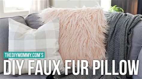 sew  diy faux fur pillow cover faux fur sewing