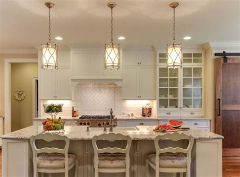 Trends In Kitchen Lighting Sophisticated Farmhouse Traditional Kitchen Raleigh