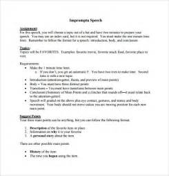 Extemporaneous Speech Sles introductory speech exle 3 introduction speech