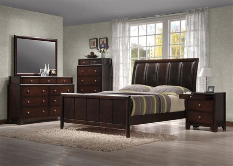 crown mark bedroom furniture crown mark furniture rivoli bedroom set in dark chocolate