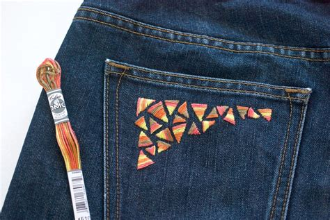 embroidery design jeans a guide for hand embroidery on denim