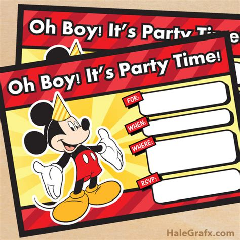 mickey mouse disney inspired birthday printables big free printable mickey mouse birthday invitation