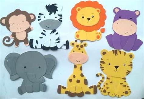 imagenes de animales de safari figuras en foami animales de la selva o safari te de