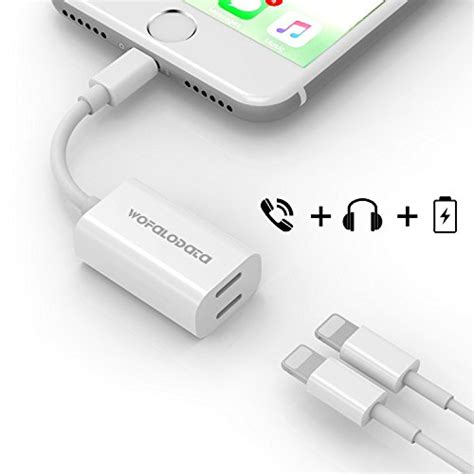 Converter Lightning Adapter Audio For Iphone 77 dual lightning adapter for iphone 7 7 plus wofalodata