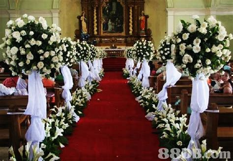 church decorations for wedding romantic decoration