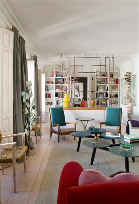 bold eclectic home  art deco  mid century modern