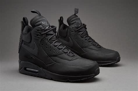 Sepatu Nike Airmax High sepatu sneakers nike air max 90 sneakerboot winter black